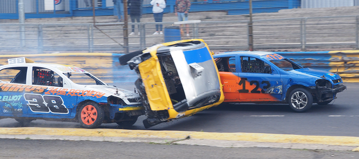 Double Rollovers In Stock Car Actions
