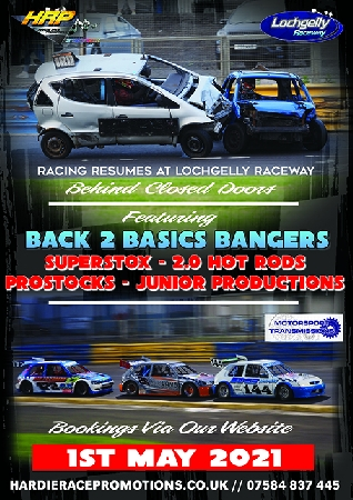 Driver booking submission for Saturday 1st May 2021, featuring Back 2 Basics Bangers, 2.0 Hot Rods, Superstox, Junior Productions and ProStocks.<br />